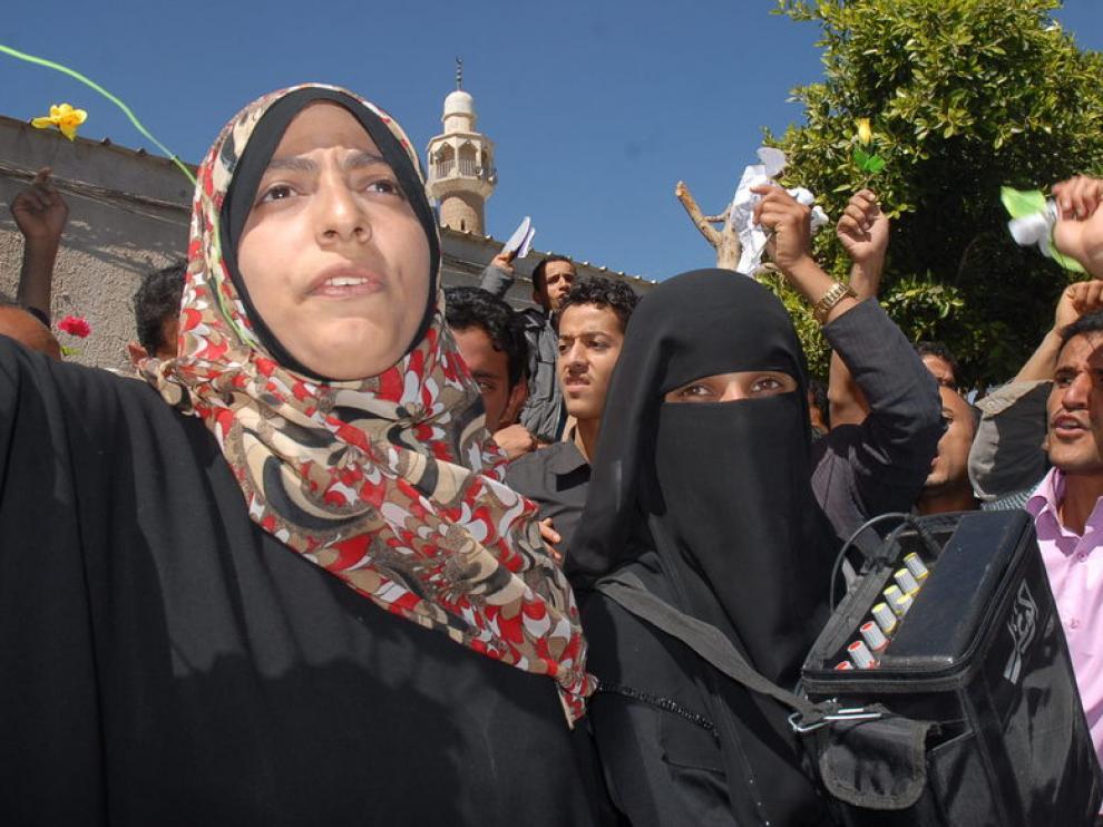 Manifestaciones en las calles de la capital de Yemen