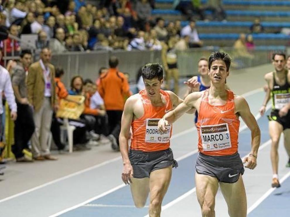 Luis Alberto Marco, compitiendo en los 800 metros, el año pasado.