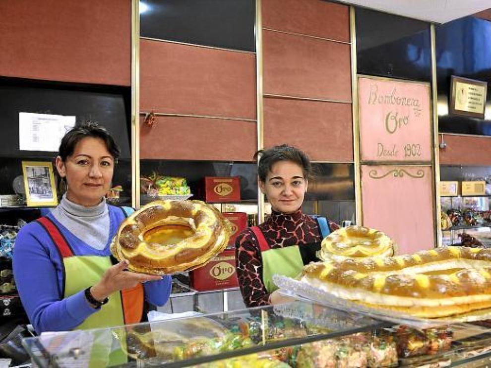 Los roscones de nata y de tamaño mediano, de unas 5 o 6  raciones, son los más demandados.