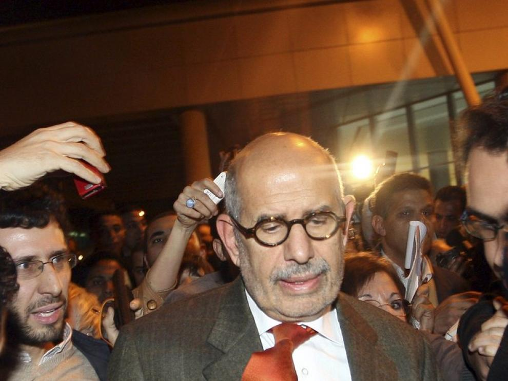 El Baradei, a su llegada a El Cairo.