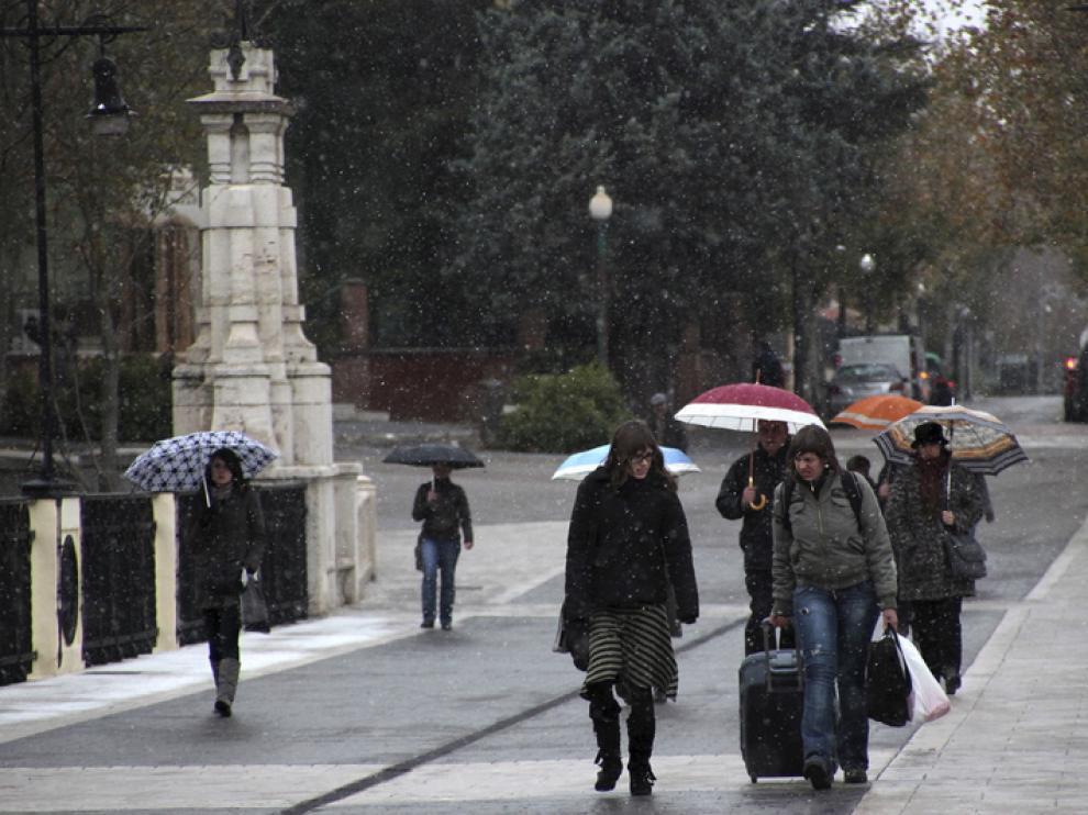 La lluvia se ha repartido de forma dispar en Aragón