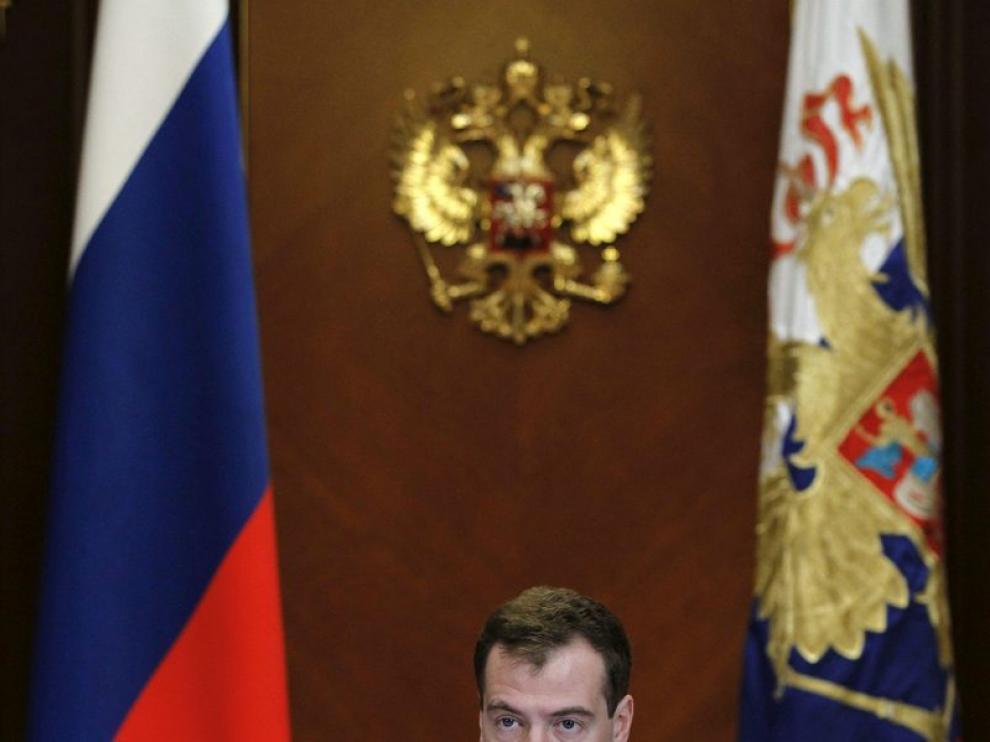 El presidente ruso Medveded