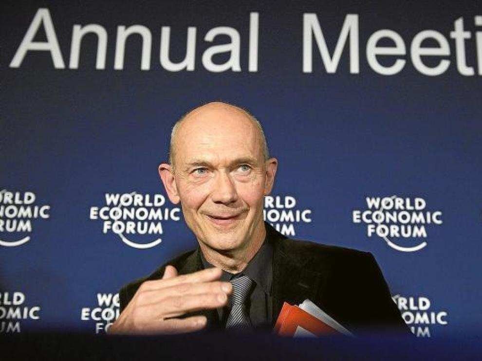 Pascal Lamy, director general de la Organización Mundial del Comercio (OMC), ayer en Davos.