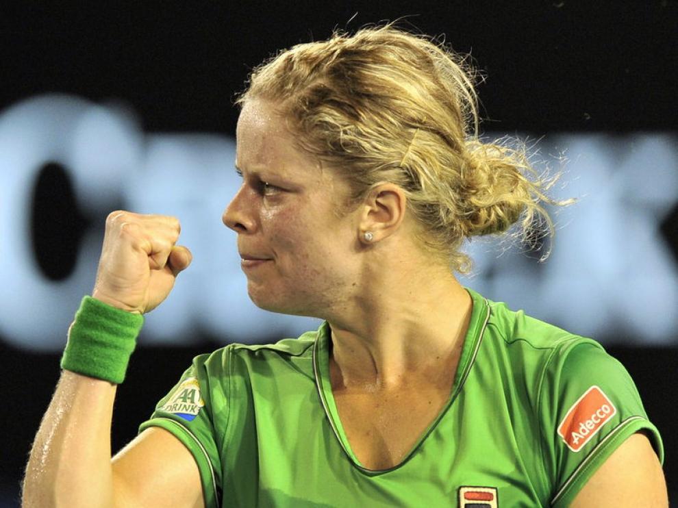 Clijsters celebra un tanto