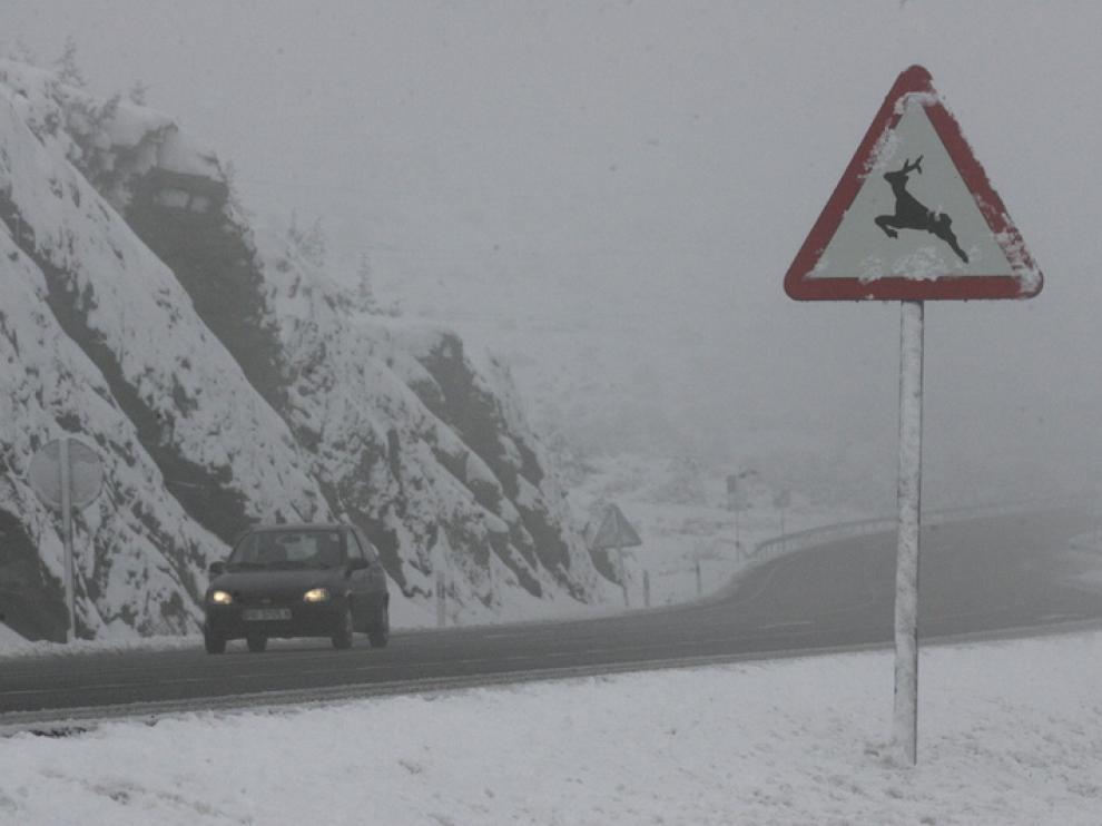 Nieve este sábado en el Monrepós