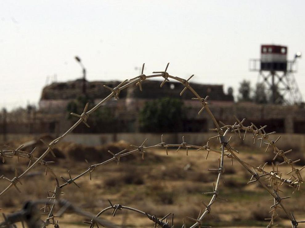 Ciudad de Rafah, frontera entre Egipto y Palestina
