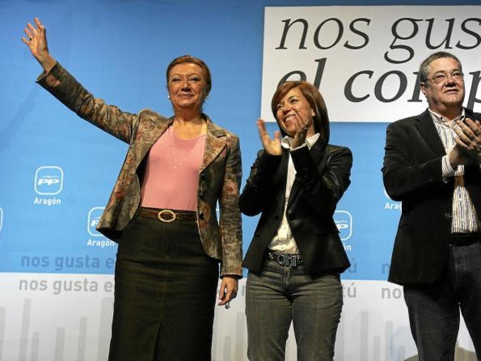 La candidata popular a la alcaldía de Huesca respaldada por la plana mayor del PP en Aragón
