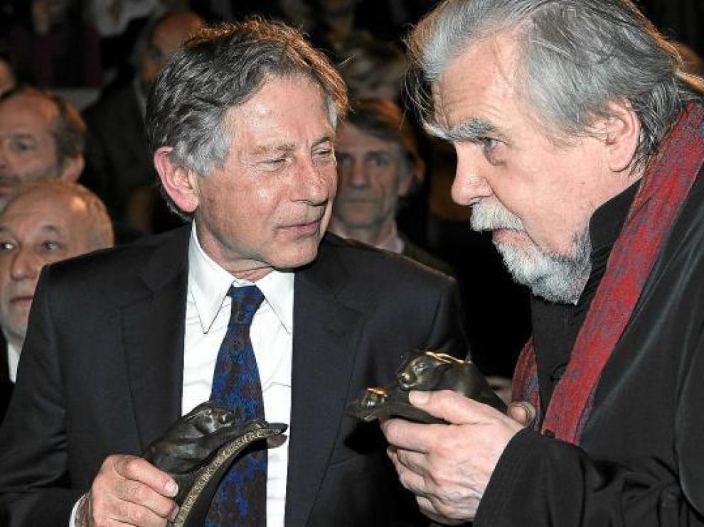 Roman Polanski (izda.), fotografiado con el actor Michael Lonsdale el pasado 14 de enero en París.