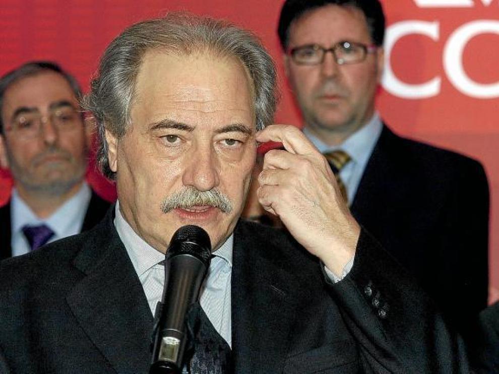 Juan Pedro Hernández Moltó, ex presidente de Caja Castilla-La Mancha, intervenida en 2009, en una imagen de archivo.