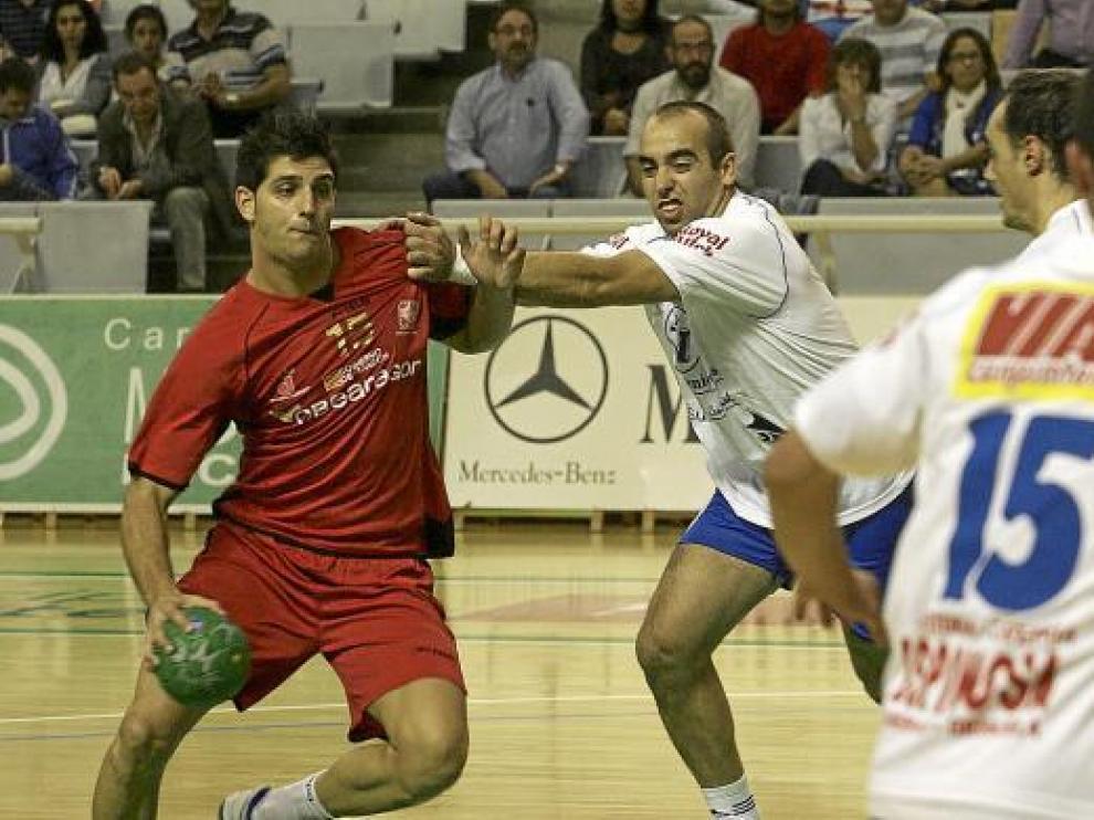 Carlos Grau en el partido de la primera vuelta contra el Almoradí.