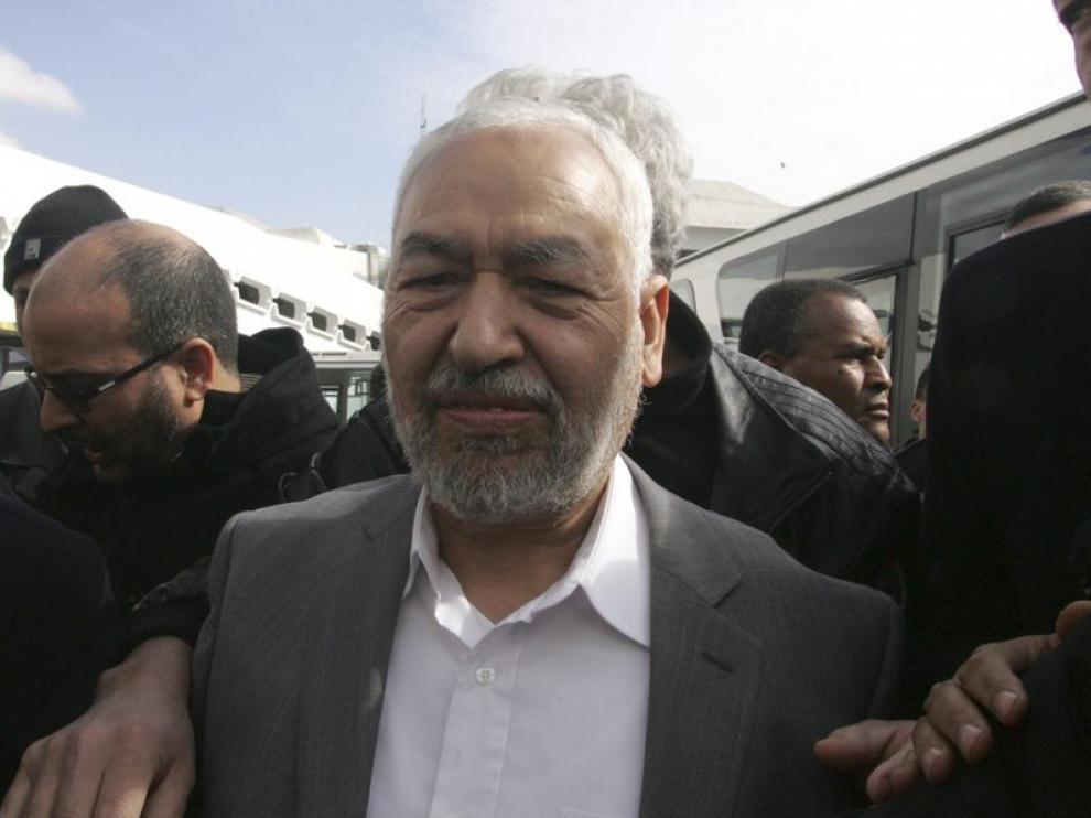 El histórico líder islámico Rachid Gannuchi