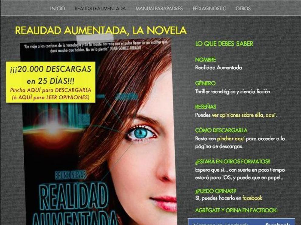 La página para descargar la obra 'Realidad Aumentada'