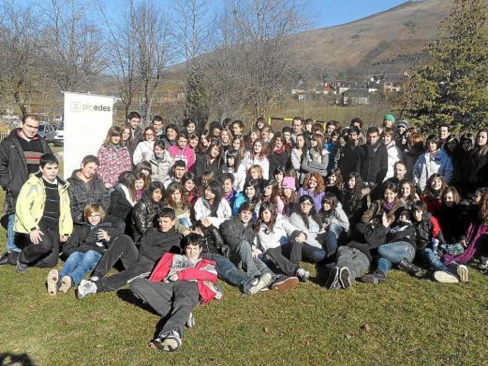 Participantes en el encuentro del programa Pir_edes celebrado en Arreau (Francia).