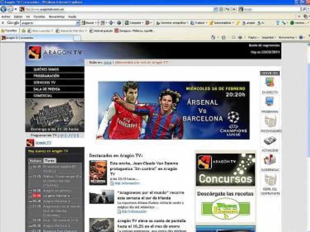 Página web de la cadena