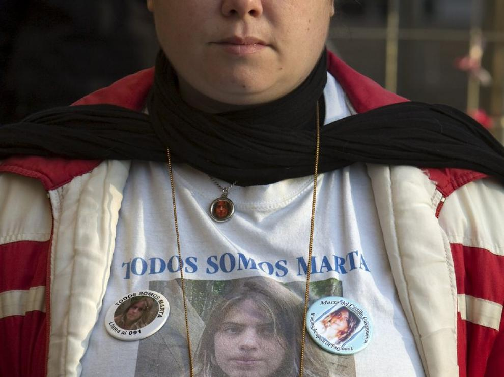 Manifestación de los familiares de Marta del Castillo