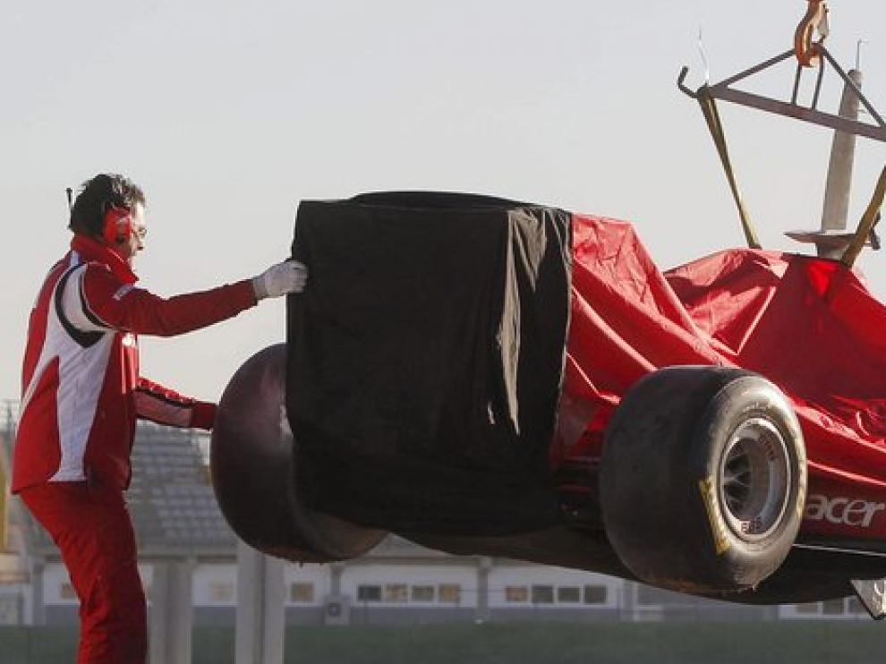 Massa rompió el Ferrari F150