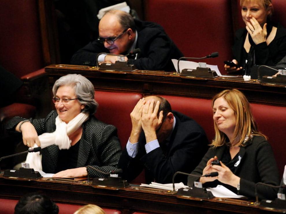 Votación en el Parlamento italiano