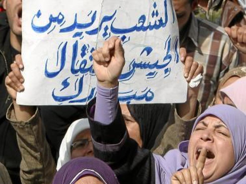 Unidos sin miedo contra Hosni Mubarak