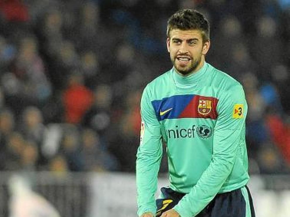 Gerard Piqué, en el partido del miércoles en Almería.