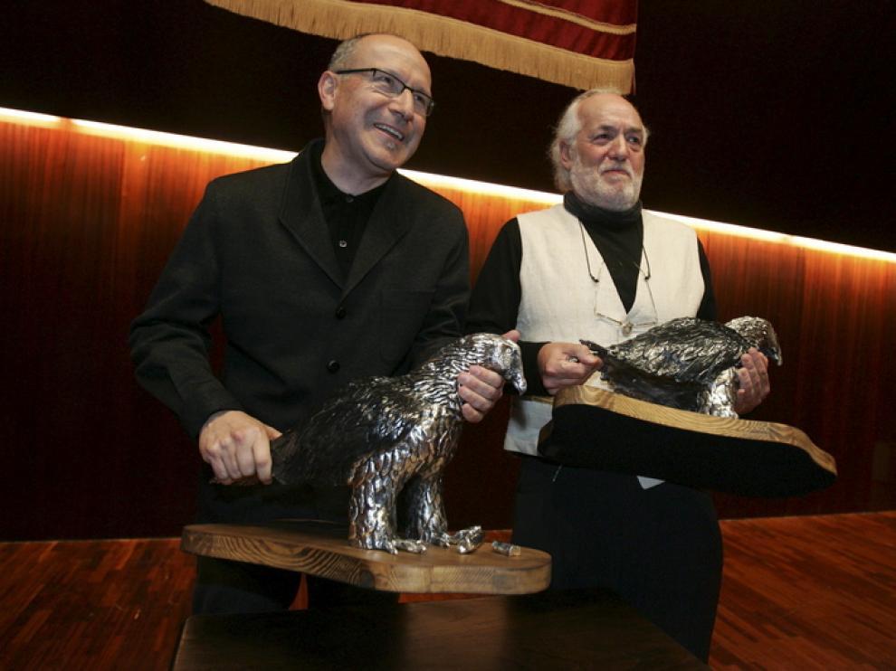 Dos de los galardonados en los premios Félix de Azara, Eugenio Monesma y Severino Pallaruelo