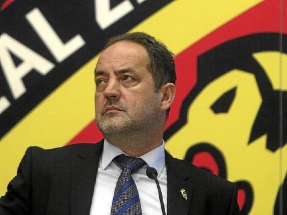 Agapito Iglesias, presidente y accionista mayoritario del Real Zaragoza, junto a Javier Porquera, director corporativo y consejero del club.