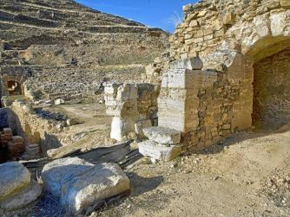Vista del yacimiento romano de Bílbilis.