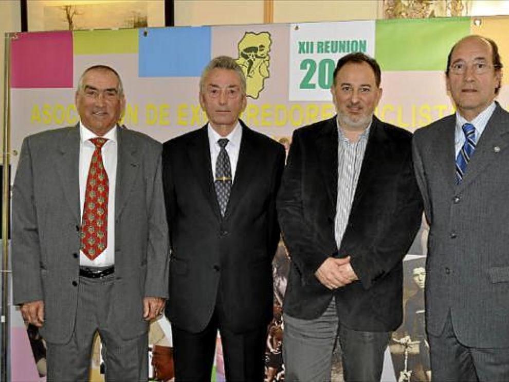 Bonacho, Valero Ibáñez, Miguel Gay y Adolfo Ibáñez, protagonistas en la fiesta de ayer.