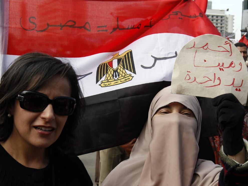 Siguen los manifestantes reunidos en la plaza Tharir para pedir cambios en Egipto