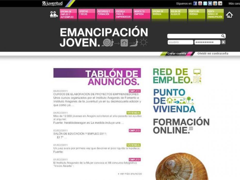 Nueva web del IAJ