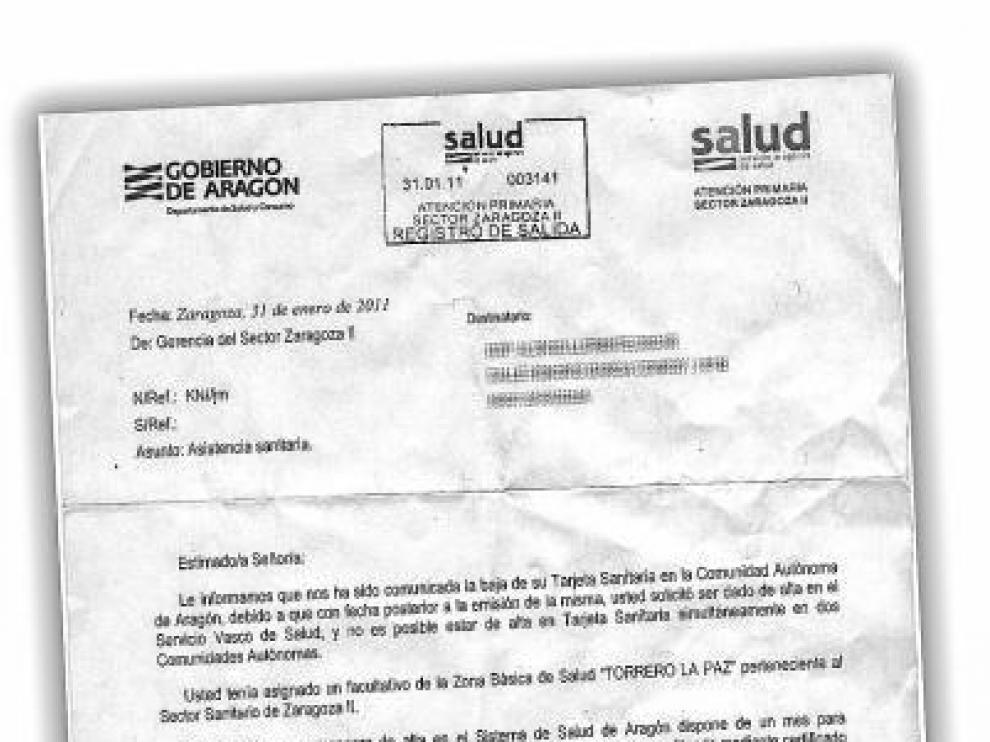 Dan de baja  tarjetas sanitarias de aragoneses  al estar dados de  alta en el País Vasco