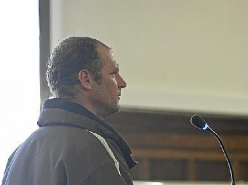 El acusado, ayer, durante el juicio celebrado en la Audiencia.