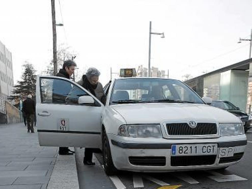 La parada de taxis del Servet