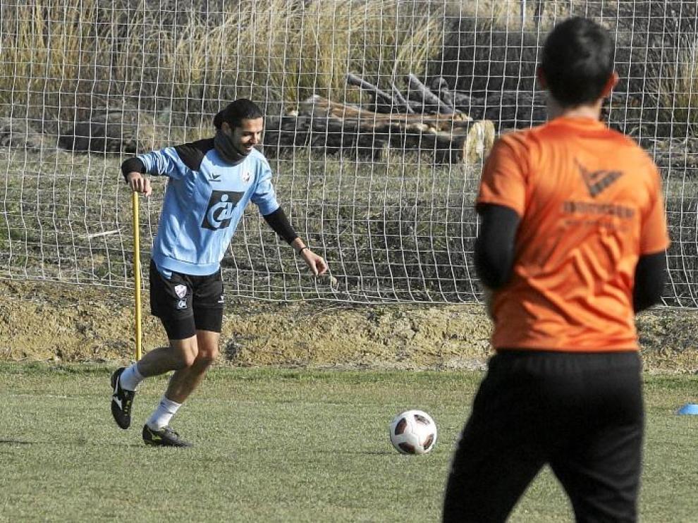 Ochoa, otro de los tocados, tiene una simple sobrecarga y ayer realizó una parte de la sesión con normalidad.