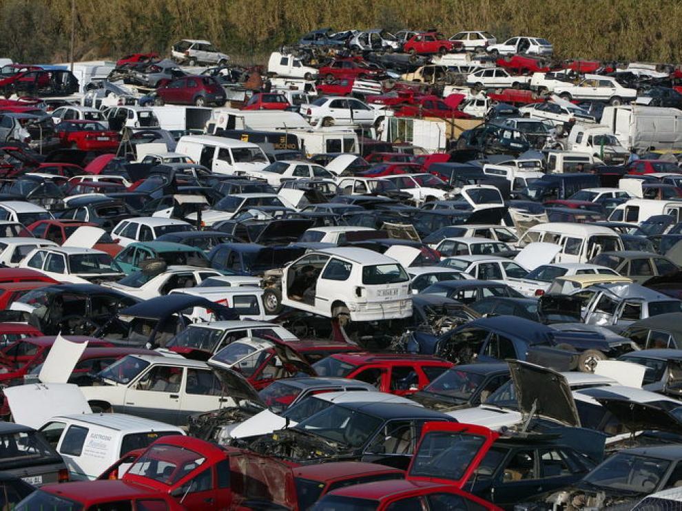 Vertedero de coches