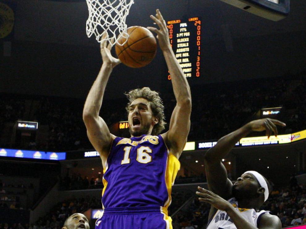 Pau Gasol, jugador de los Lakers