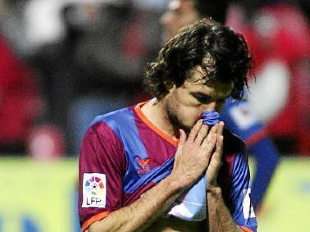 Juanjo Camacho, durante el partido con la Ponferradina.