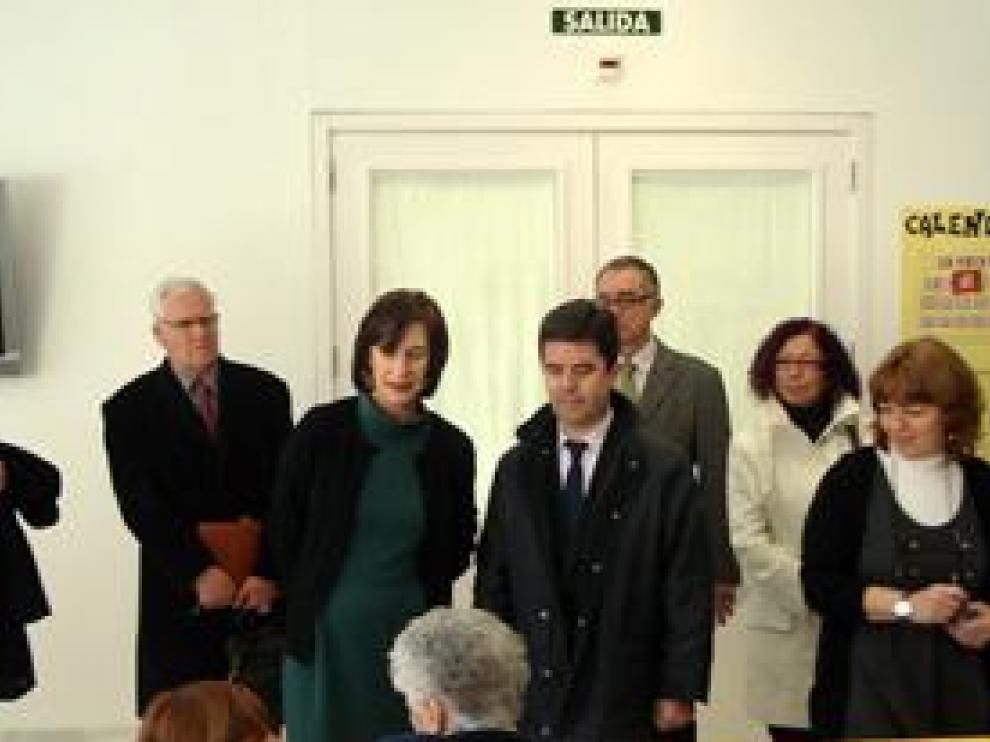 La consejera Ana Fernández y el alcalde Luis Felipe en Casa Aísa.