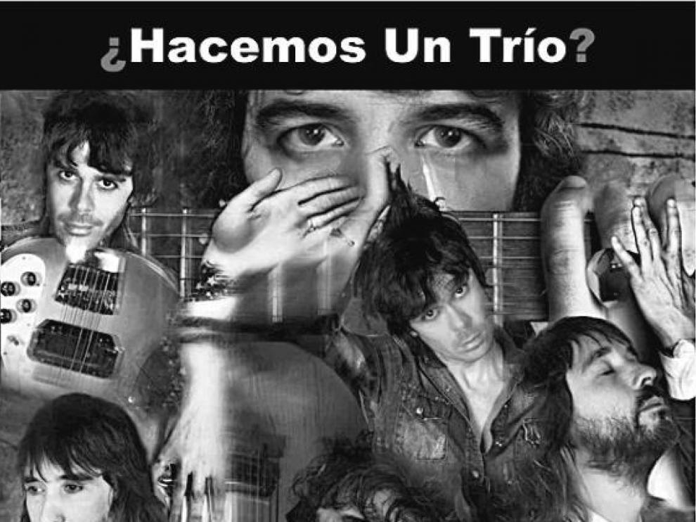 Sidonie, en formato trío, en el cartel promocional del concierto.