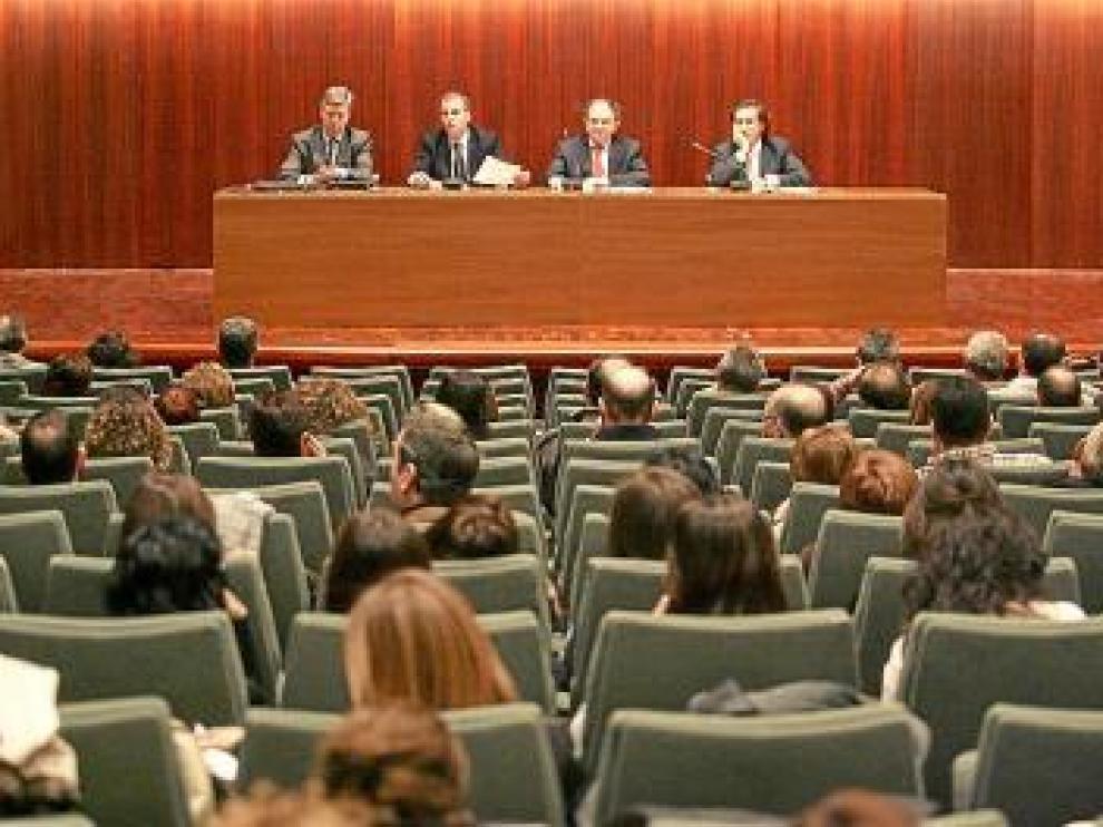 La Cámara reunió ayer a cien técnicos en el salón de actos de la DPH.