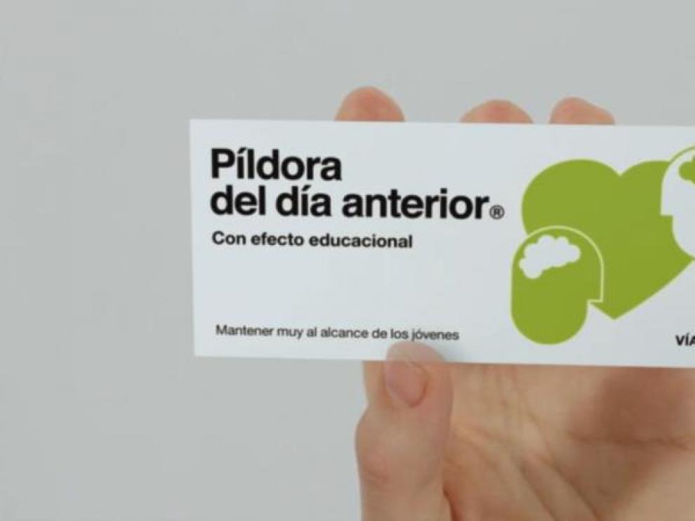 Fotograma del anuncio de la píldora del día antes