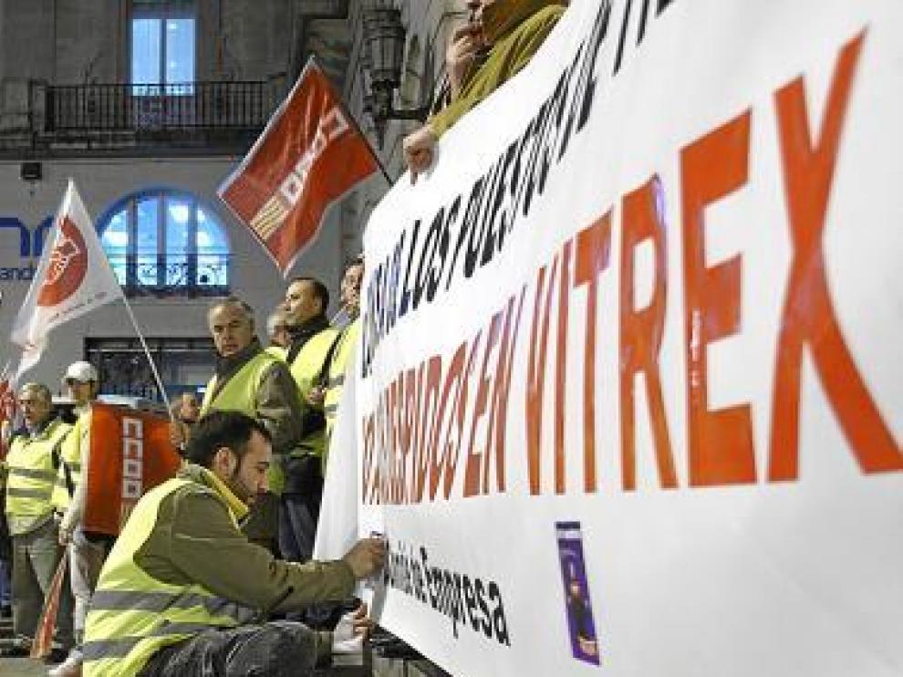 Concentración de la plantilla celebrada en 2008.