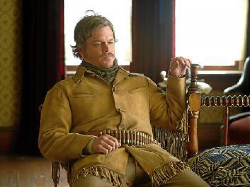 Matt Damon, en un fotograma de 'Valor de ley', de los hermanos Coen.