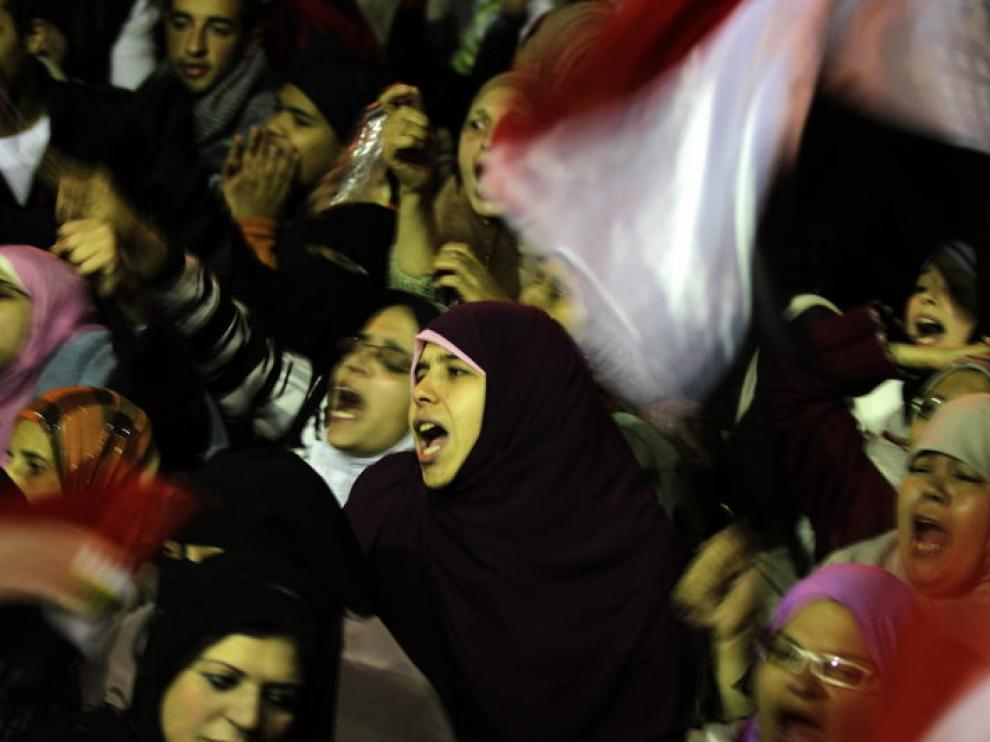 Los egipcios se lamentaban durante el discurso de Mubarak