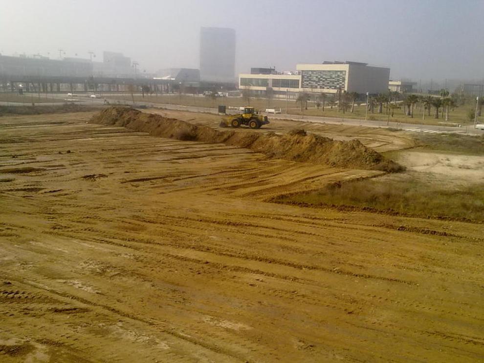 Comienzan las obras para construir el Soccer World Zaragoza en el Parque del Agua