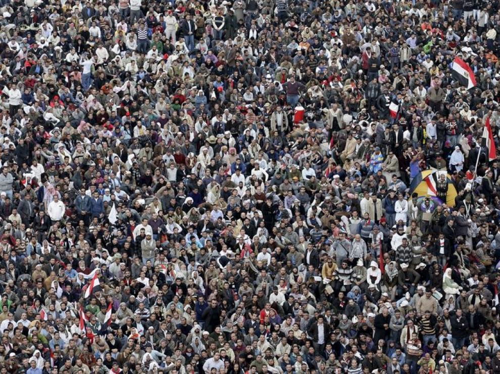 Protesta masiva en las calles de El Cairo