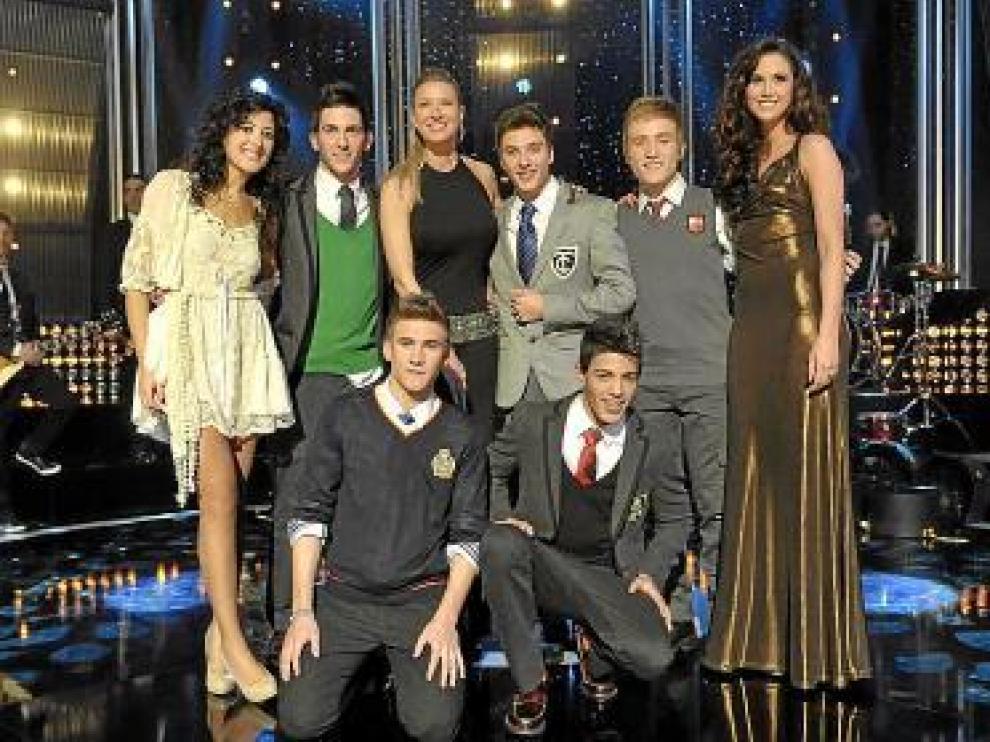 Los finalistas para ir a Eurovisión, con Anne Igartiburu.