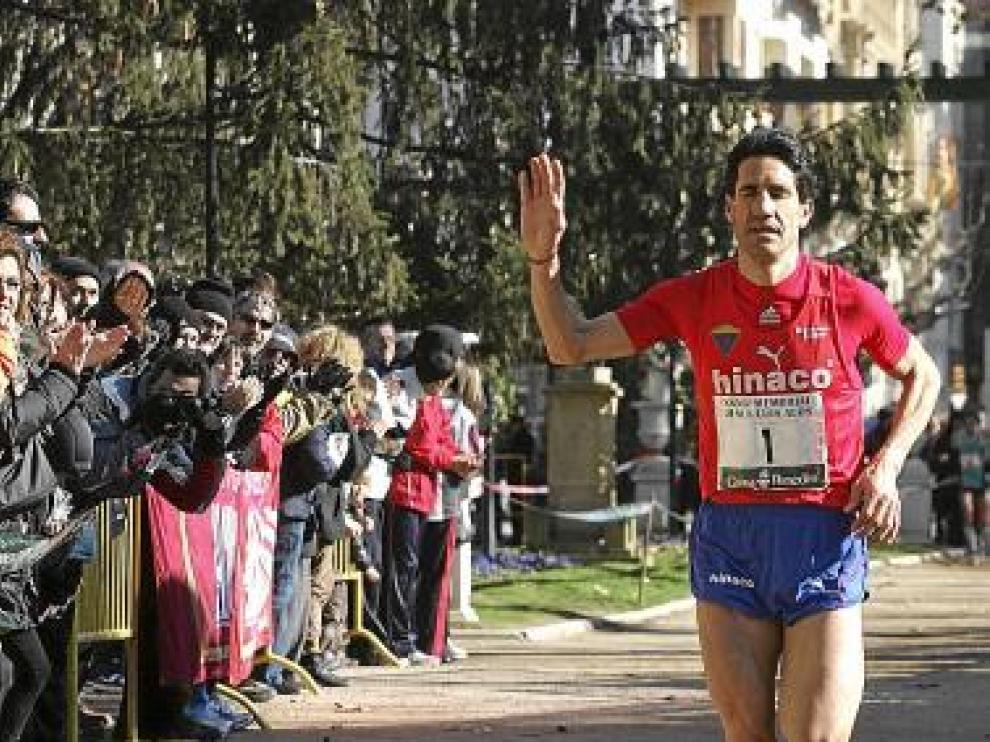 El atleta de Monzón Eliseo Martín.