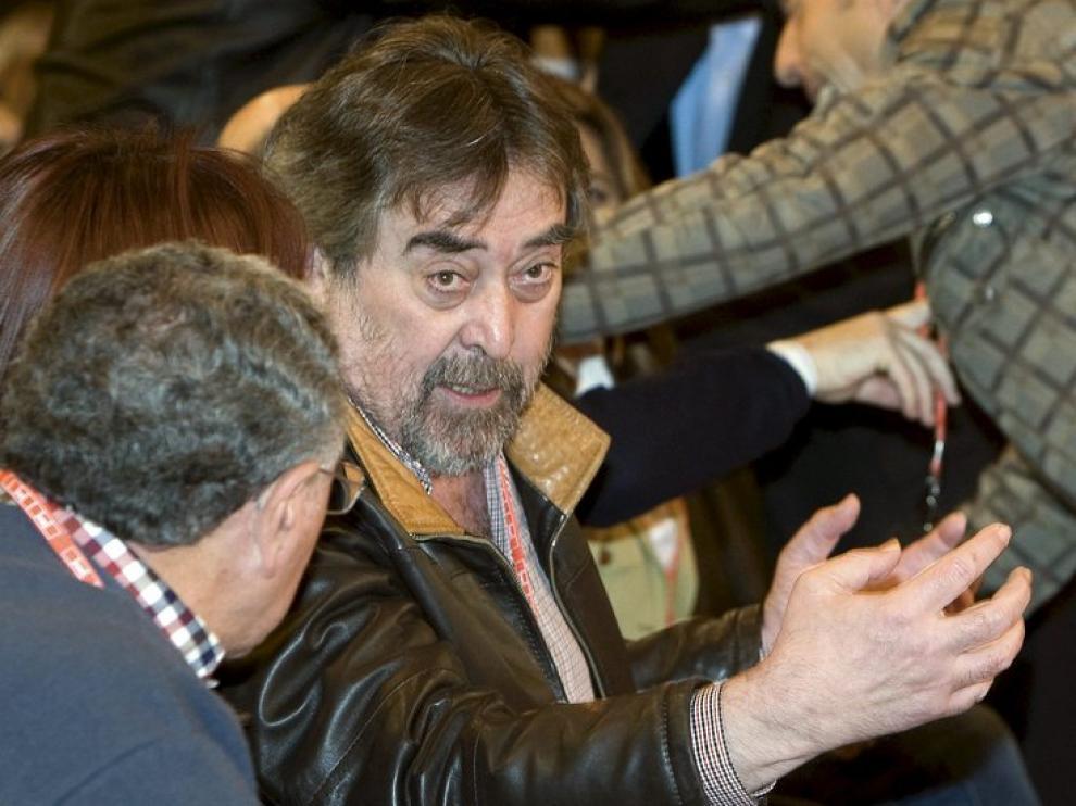 El alcalde de Zaragoza, Juan Alberto Belloch, durante la convención en Sevilla
