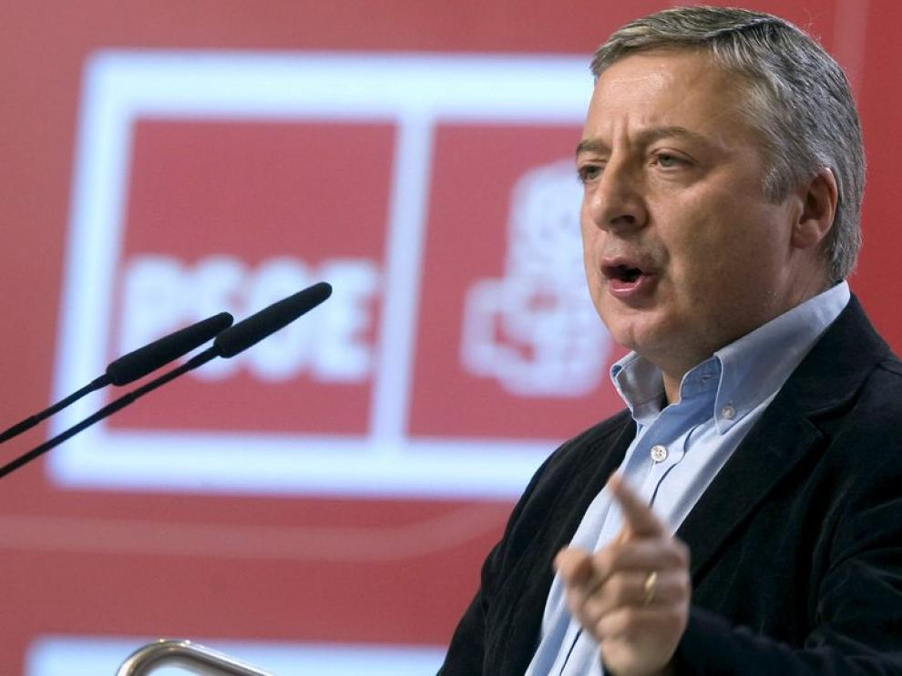 José Blanco durante su discurso