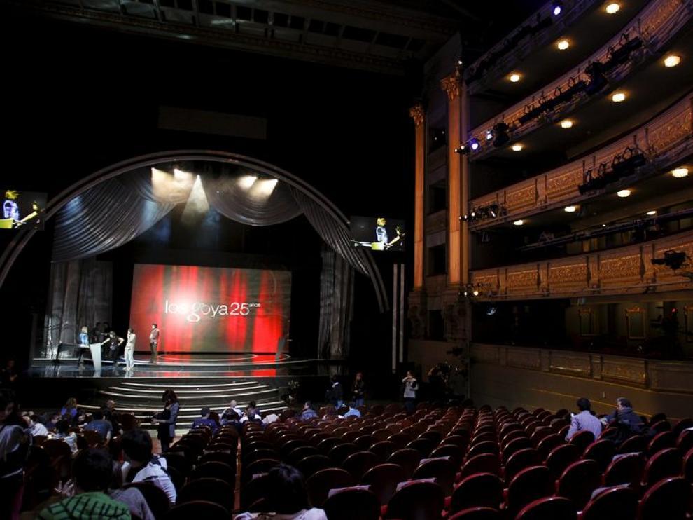 Ensayos de la gala en el Teatro Real
